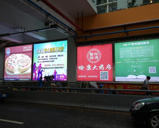 深圳户外大型LED发光广告灯箱