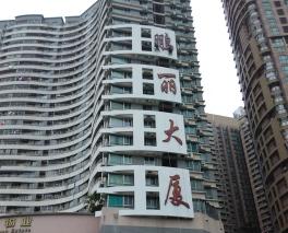 庆阳大楼外墙大字
